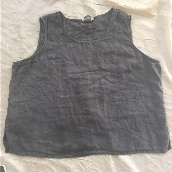 b268e5608d hot cotton Tops - Hot Cotton Woman plus size 2xl gray linen tank top